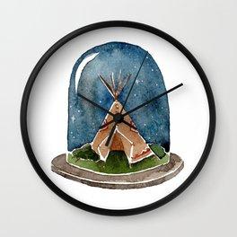 Terrarium teepee Wall Clock