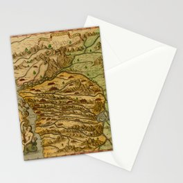 Map Of The Congo 1597 Stationery Cards