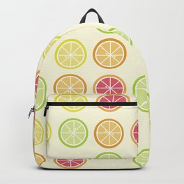 Fun Yellow Citrus Slice Pattern Backpack