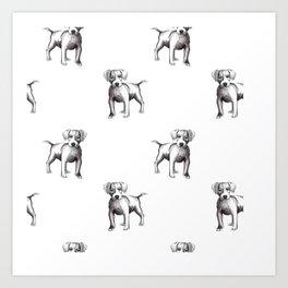 dog drawing Art Print