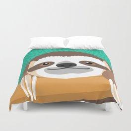 Brad Sloth Duvet Cover