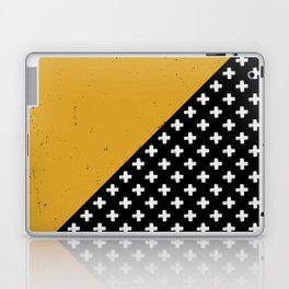 Swiss crosses (grunge) Laptop & iPad Skin