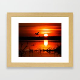 Early Spring Sunrise Framed Art Print