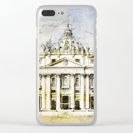 St. Peter's Basilica, Rome Italy Clear iPhone Case