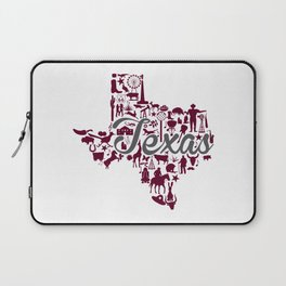 Texas A&M Landmark State - Maroon and Gray Texas A&M Theme Laptop Sleeve