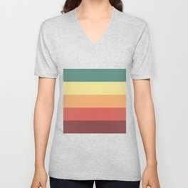 Retro Stripes Unisex V-Neck
