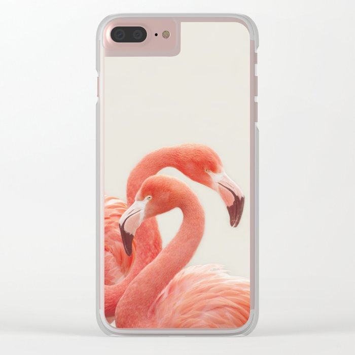 FLAMINGOS by Monika Strigel Clear iPhone Case