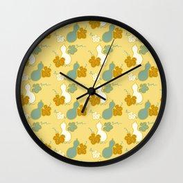 Gourd Hyotan Japanese Kimono Pattern Wall Clock