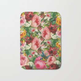 Colorful Floral Pattern | Je t'aime encore Bath Mat