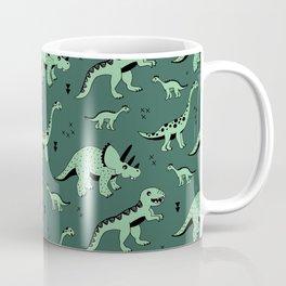 Dinosaur jungle love quirky creatures illustration Coffee Mug