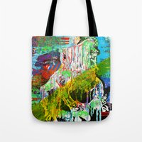 dr who Tote Bags featuring Dr Who by One & Only Arts