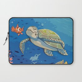 Under the Sea and Above the Coral Laptop Sleeve