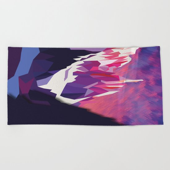 Night Mountains No. 12 Beach Towel