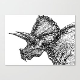 Three Horned Face Canvas Print