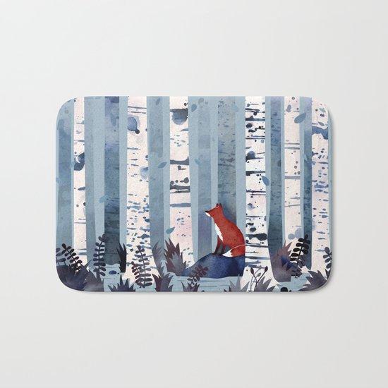 The Birches (in Blue) Bath Mat