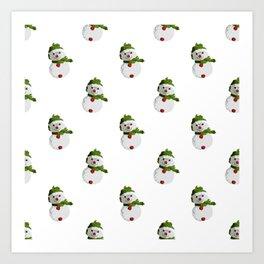 Snowman Pattern (NEW) Art Print