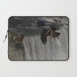 The Gathering Place - Wildlife Scene Laptop Sleeve
