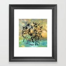 Abstract Painting HUMMINGBIRD V Framed Art Print
