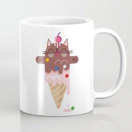 CHOCOLATE CAT ICE CREAM SUPER PAPER HERO Coffee Mug