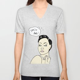 You're Late! Unisex V-Neck