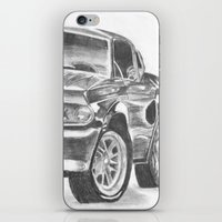 mustang iPhone & iPod Skins featuring Mustang by WNN Creations