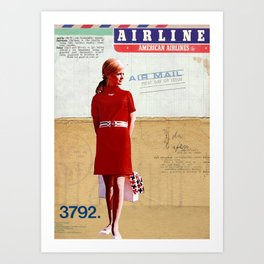 """""""Flight Attendant"""" Art Print"""