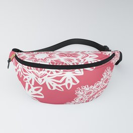 Flurries on Coral Fanny Pack