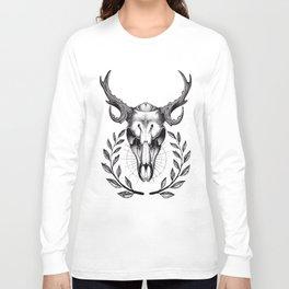 Dotwork Deer Long Sleeve T-shirt
