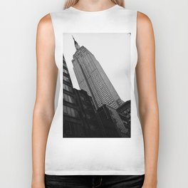 Empire State Building in Black and White Biker Tank
