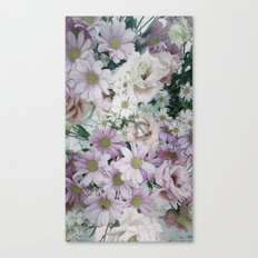 Bouquet pastel lilacs and pinks Canvas Print