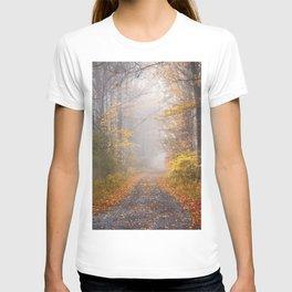 Road in Autumn Mist T-shirt