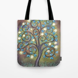 Brown Mystic Tree Tote Bag