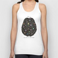 video games Tank Tops featuring Your Brain On Video Games by Terry Fan