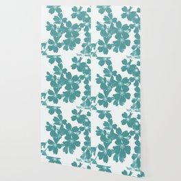 Floral Teal Wallpaper