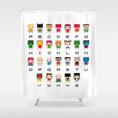 Superhero Alphabet Shower Curtain