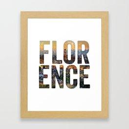Florence City Framed Art Print