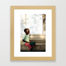 Blind Boy I / Pignon, Haiti Framed Art Print