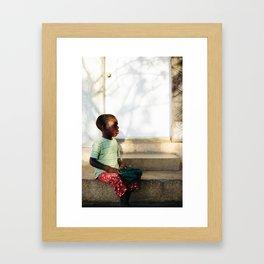 Blind Boy I / Pignon, Haiti Framed Art Print