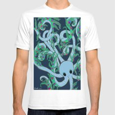 Peacoctopus MEDIUM Mens Fitted Tee White