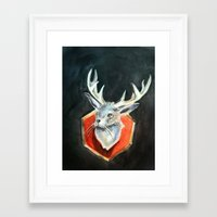 jackalope Framed Art Prints featuring Jackalope by Danielle Guelbart