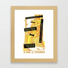 King Combover Framed Art Print