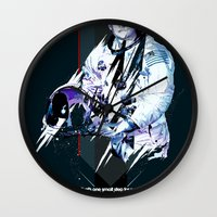 neil gaiman Wall Clocks featuring Neil Armstrong Tribute by Largetosti