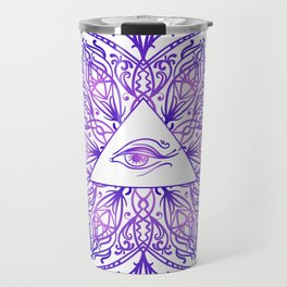 Indian mandala sun and eyes Travel Mug