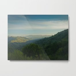 late afternoon on mt. tam looking towards san francisco Metal Print