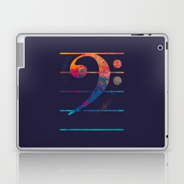 Bass Clef Color Laptop & iPad Skin