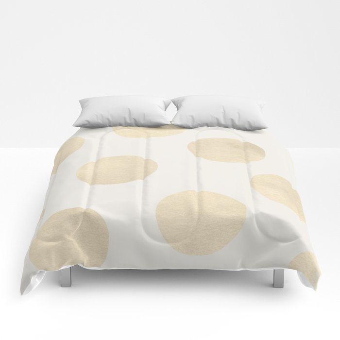 Gold Polka Dots Comforters