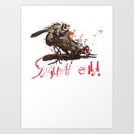 Squash em! Art Print