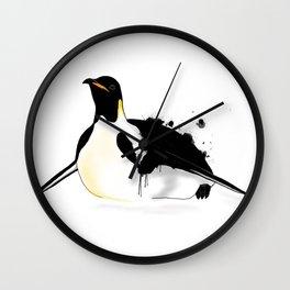 Penguin slide Wall Clock