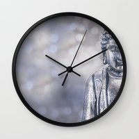 buddha Wall Clocks featuring Buddha by LebensART Photography