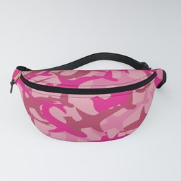 Pink Shark Camouflage Fanny Pack